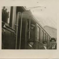 Woodrow Wilson on a Train