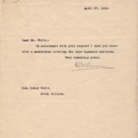 Edward T. Williams to Henry White