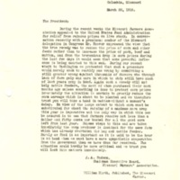 J.A. Hudson and William Hirth to Woodrow Wilson