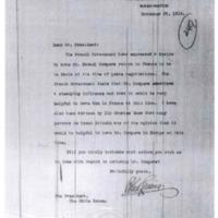 Robert Lansing to Woodrow Wilson