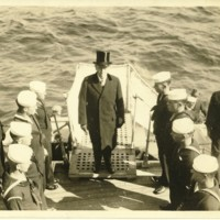Woodrow Wilson on USS George Washington
