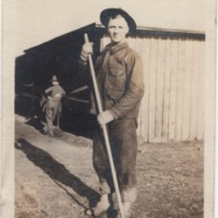 Soldier with Rake