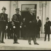 Woodrow Wilson and Military Aides at the First Inauguration