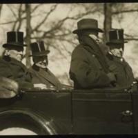 Woodrow Wilson, Warren G. Harding, Joseph G. Cannon, and Philander C. Knox, in Harding's Inaugural Parade