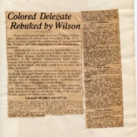 Colored Delegate Rebuked by Wilson
