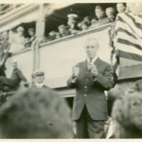 Woodrow Wilson Giving Speech on the USS George Washington