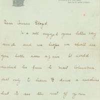 Jessie Woodrow Wilson Sayre to Lloyd S. Woodrow