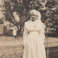 Ruth L. Hubble in Nurse's Uniform