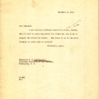 Benjamin Strong Jr. to Russell Cornell Leffingwell