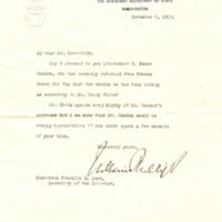 William Phillips to Franklin K. Lane