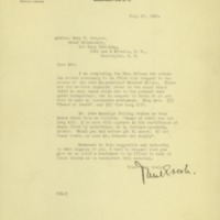Paul E. Lesh to Cary T. Grayson