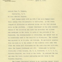 Thomas M. Woodward to Cary T. Grayson