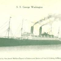 Postcard of the SS George Washington