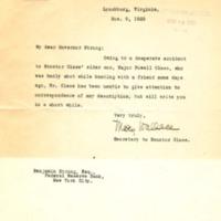 Mary Wallace to Benjamin Strong Jr.