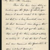 Woodrow Wilson to Horace E. Scudder