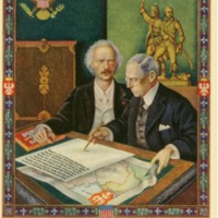 Wilson and Paderewski at the Peace Conference
