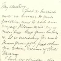 Ellen Axson Wilson to Jessie Woodrow Wilson Sayre