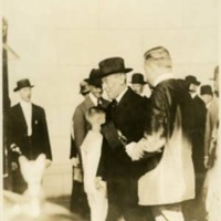 Woodrow Wilson Returning at Union Station in Washington, DC, After the Western Tour