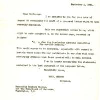 Benjamin Strong Jr. to Herbert Hoover