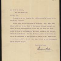 Woodrow Wilson to David E. Friend