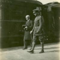 Woodrow Wilson Walking with King Albert of Belgium