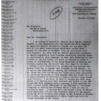 Samuel McCune Lindsay to Woodrow Wilson