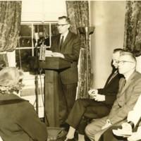 Samuel Spencer Reading the Eulogy for Edith Wilson