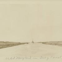USS Maryland in Suez Canal