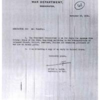 Memorandum for Mr. Tumulty